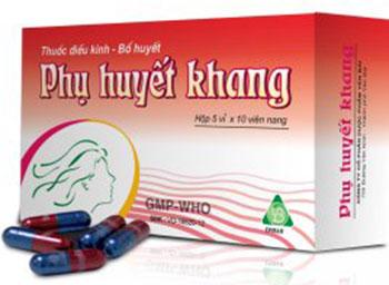 Thuốc điều hòa kinh nguyệt phụ huyết khang 1